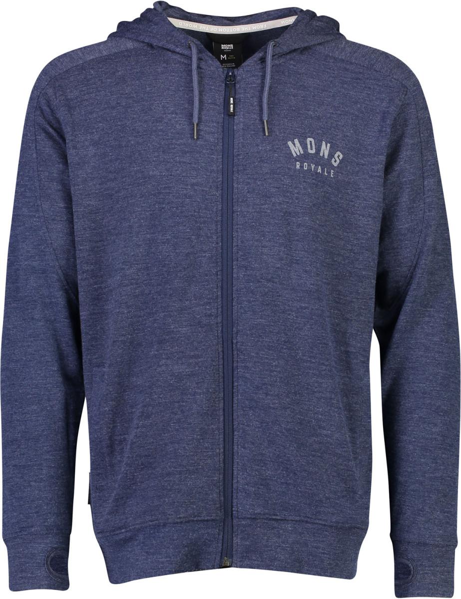 Mons Royale Covert Lite Hoody - navy Veľkosť oblečenia: XL.