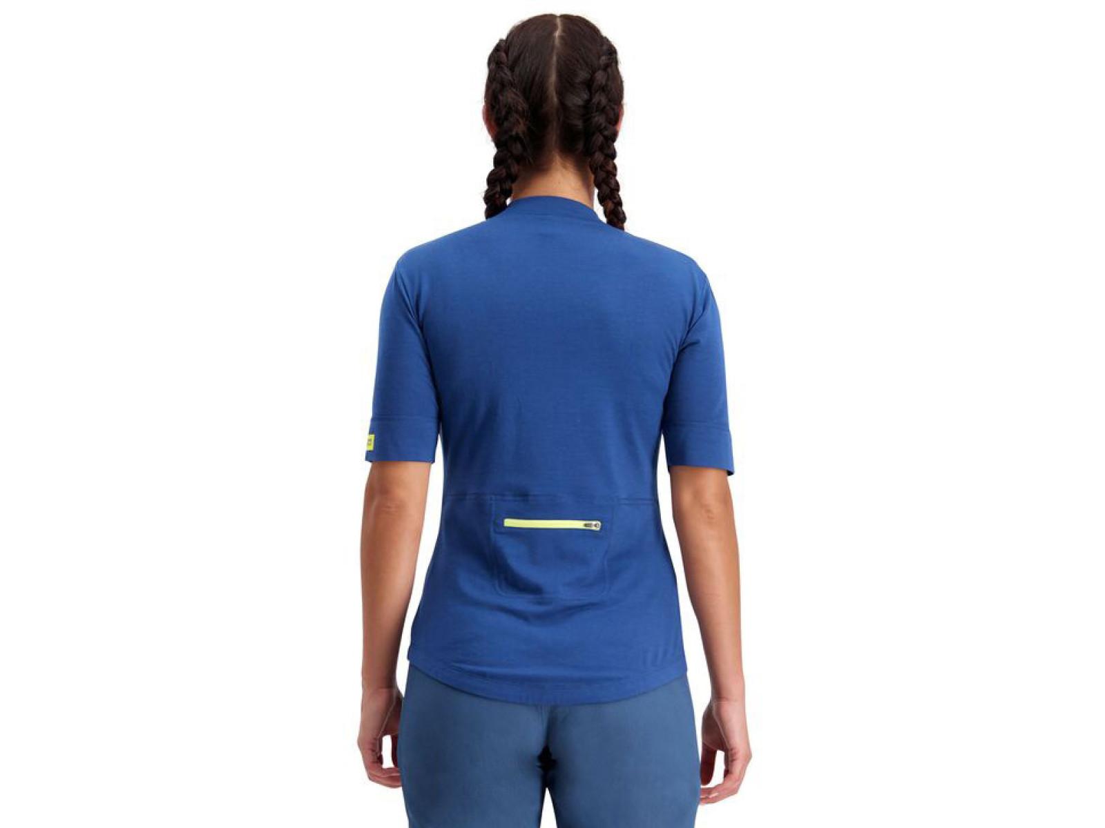 Mons Royale Cadence Half Zip T - ink stripe Veľkosť oblečenia: S.