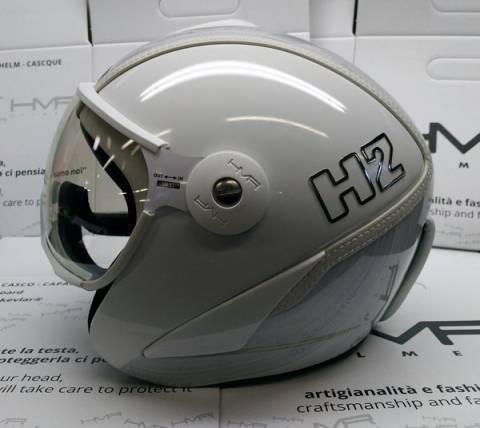 Hammer H2 white / silver striped + štít VTS1 2020/2021.