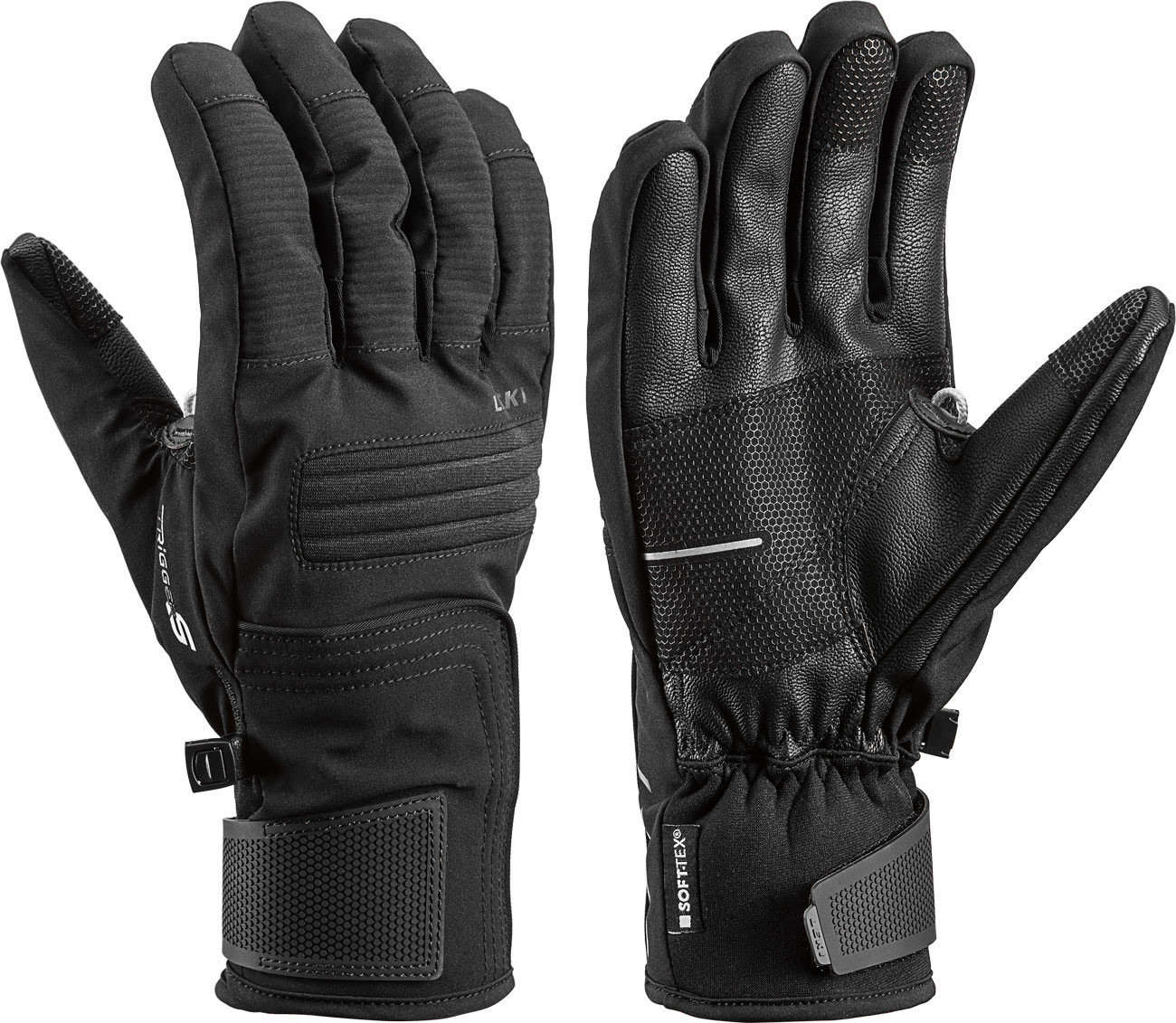 Leki Glove Progressive 5 S - čierna