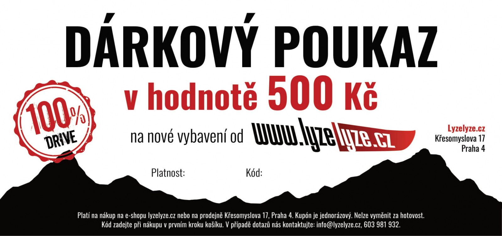 LyzeLyze.cz Darčekový poukaz 500 Sk