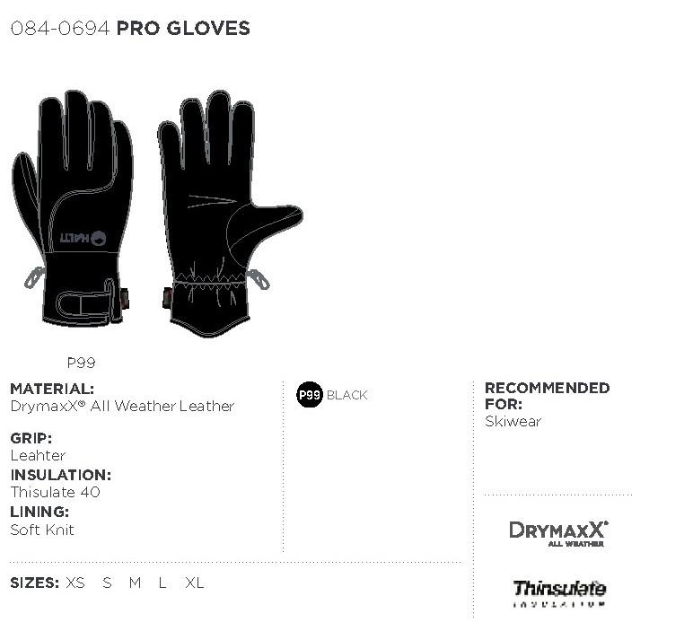 Halti rukavice Pro - čierna