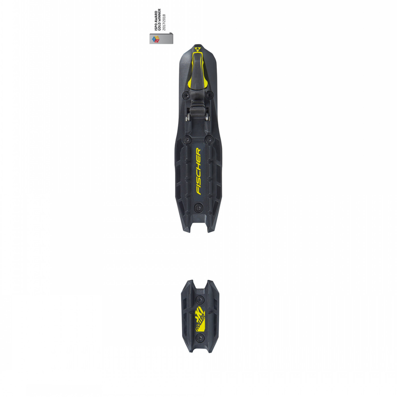 Fischer XC-BINDING ROLLERSKI SKATE BLACK YELLOW