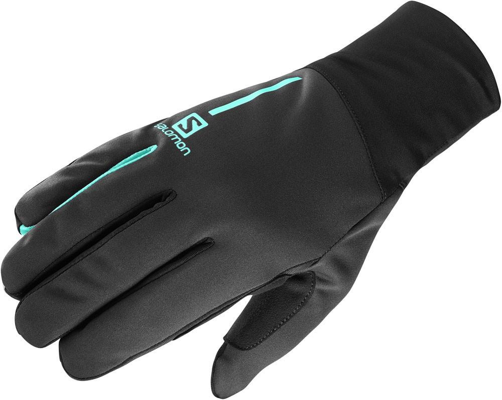 Salomon Equipe Glove U - čierna / tyrkysová