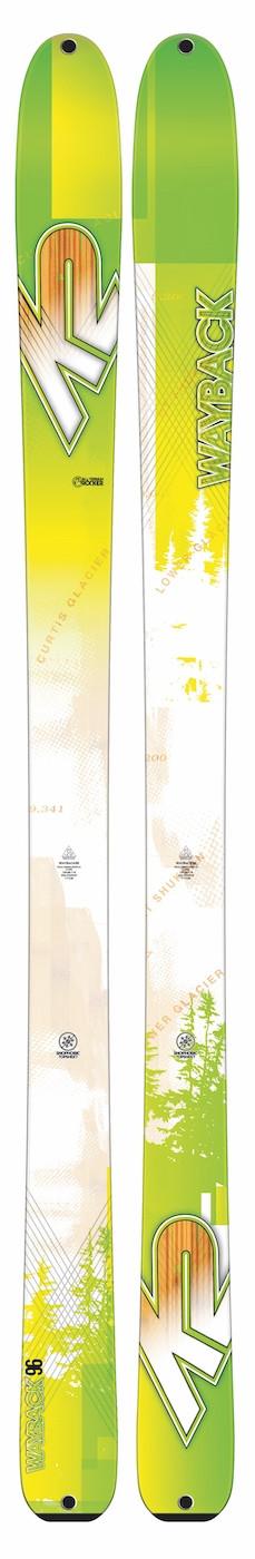 K2 Wayback 96 + Kingpin 13 + pásy - testovacie lyže