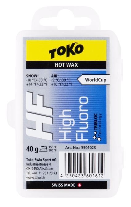 TOKO HF Hot Wax NEW - modrý 40g