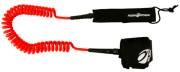 Aqua Design leash krútená - červená