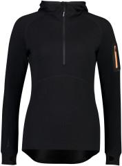 Mons Royale Ascend Midi Half Zip Hood - Black