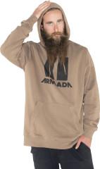 Armada Icon Hoodie - hnedá
