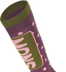 Mons Royale mons Tech Cushion Sock - blackberry / avokádo