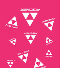 Fischer šatka CLASSIC LOGO - ružová / biela