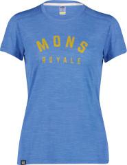 Mons Royale Vapour Tee - rebel blue