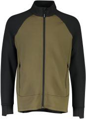 Mons Royale Nevis Wool Fleece Jacket - canteen / Black