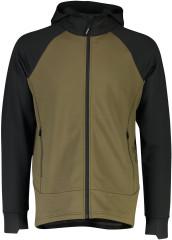 Mons Royale Nevis Wool Fleece Hood - canteen / Black
