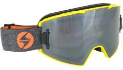 Blizzard 927 MAGNETIC - neon yellow matt, 1x orange + 1x smoke, silver mirror
