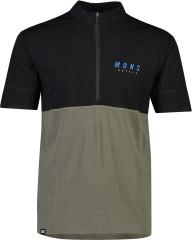 Mons Royale Cadence Half Zip T - black / olive