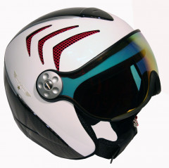 Hammer H2 R wht / carbon / red + štít VTM006