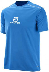 Salomon Stroll Logo SS Tee M Prince - modrá