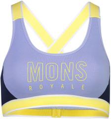Mons Royale Stella X-Back Bra - modrá / žltá