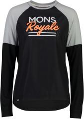 Mons Royale Tarn Freeride LS Wind Jersey - black / grey