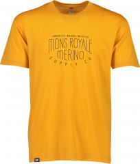 Mons Royale merino tričko Icon T-Shirt - žltá