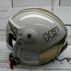 Hammer H3 white / gold mesh + štít VTS1