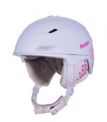 Blizzard Viva Double Ski Helmet - biela / ružová