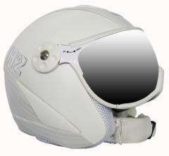 Hammer H2 wht / silv. striped + štít VTS001