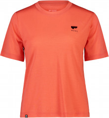 Mons Royale Icon Relaxed Tee W - hot coral