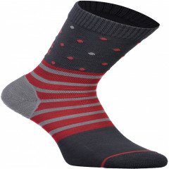 Mons Royale All Rounder Crew Sock - poppy / charcoal