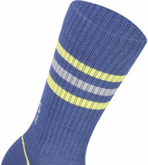 Mons Royale Signature Crew Sock - ink / lemon