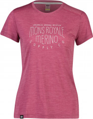 Mons Royale Vapour Tee - rosewood
