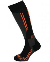 Tecnica Competition Ski Socks - čierna / oranžová