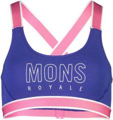 Mons Royale Stella X-Back Bra - ultra blue