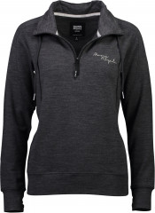 Mons Royale Covert Lite 1/2 Zip - smoke