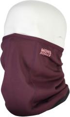 Mons Royale Decade Wool Fleece Neckwarmer - blackberry