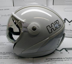 Hammer H2 white / silver striped + štít VTS1