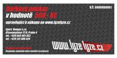 LyzeLyze.cz Elektronický darčekový poukaz 500 Sk