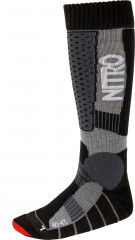 Nitro Team Socks - black-grey-red