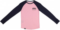 Mons Royale Groms LS - rosewater / 9 iron