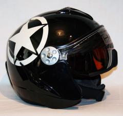 Hammer H2 Pearl black / white star + štít