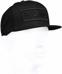 Mons Royale Connor Cap Box Logo - čierna