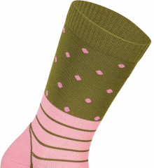 Mons Royale All Rounder Crew Sock - khaki rose