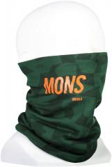 Mons Royale Double Up Neckwarmer - pine camo